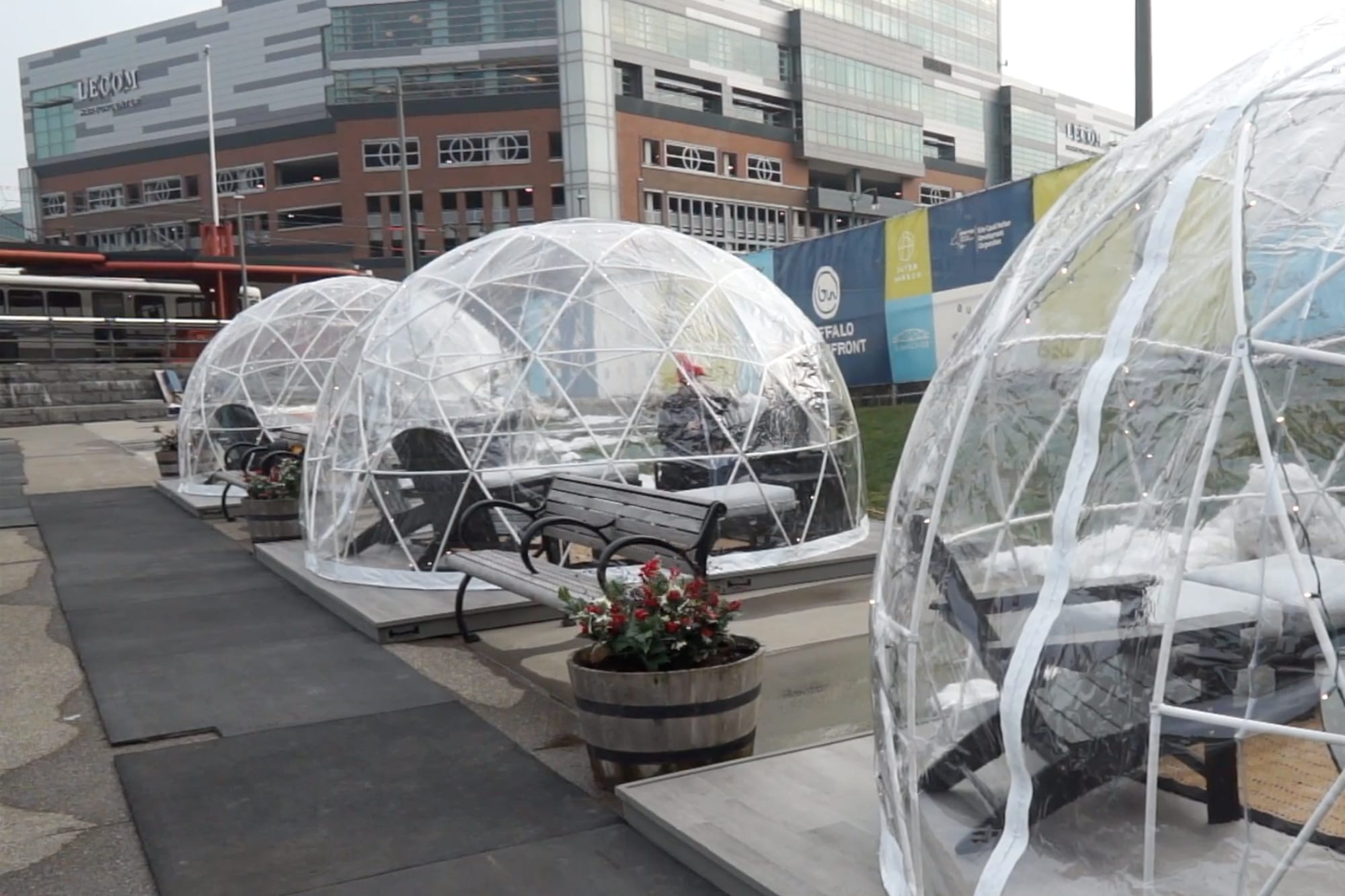 New this Year: Igloos at Canalside